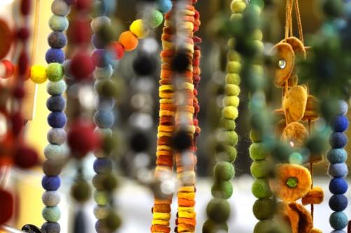 Collane in feltro - Mercatino di Natale