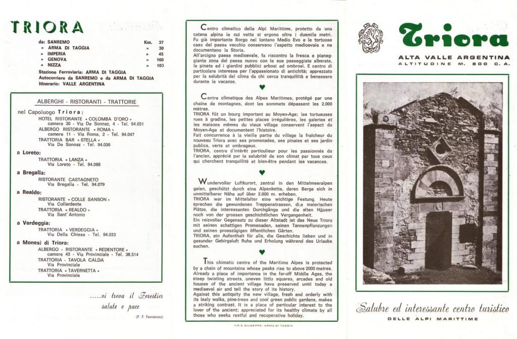 Triora - Alta Valle Argentina - Depliant