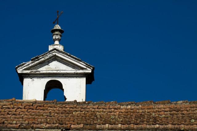 Campanile a vela dell'Oratorio di San Giovanni Battista di Borganzo