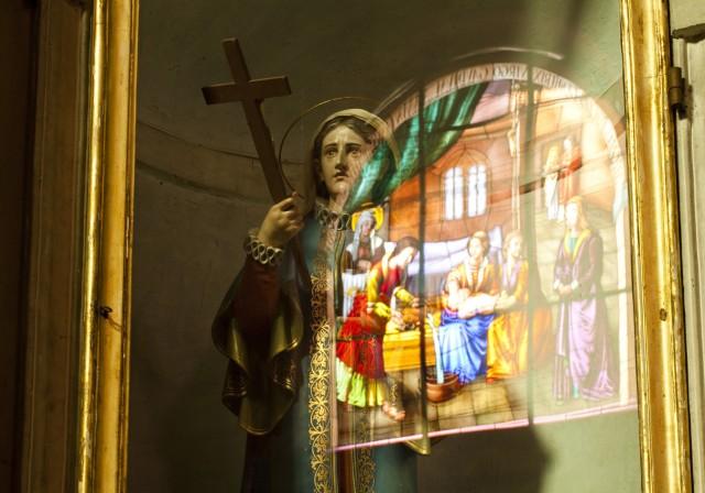 Santa nella chiesa della Natività di Maria a Borganzo
