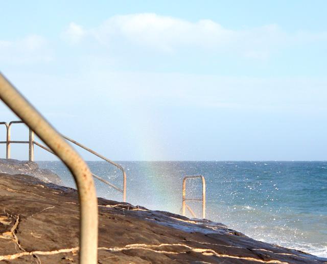 Arcobaleno al mare.