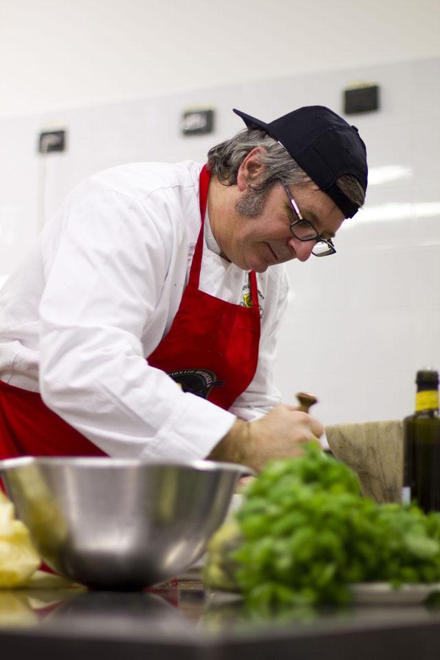Roberto Panizza e il pesto