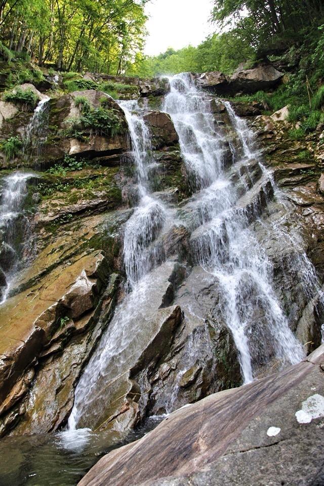 le cascate del torrente Arroscia a Mendatica