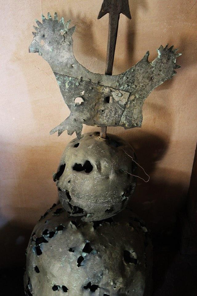 sfera colpita dai fucili francesi nel XVIII secolo a Cosio d'Arroscia