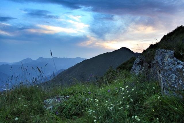 Alpi Liguri alla sera