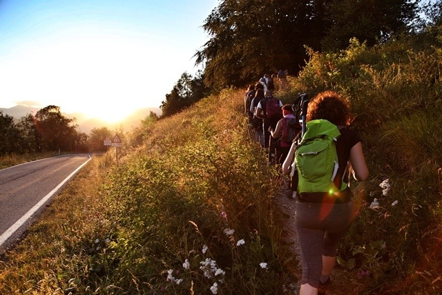 escursione in notturna partendo da Pian dell'Arma sull'Alta Via dei Monti Liguri