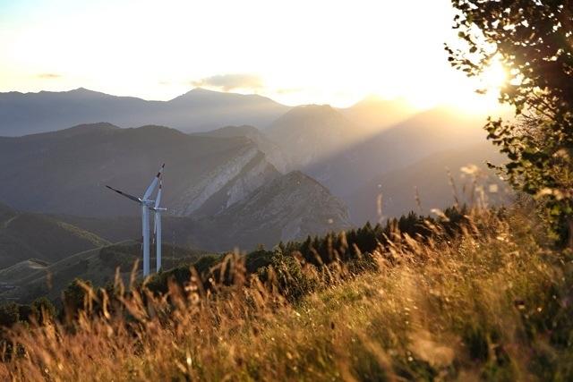 pale eoliche nel comune di Armo in Valle Arroscia